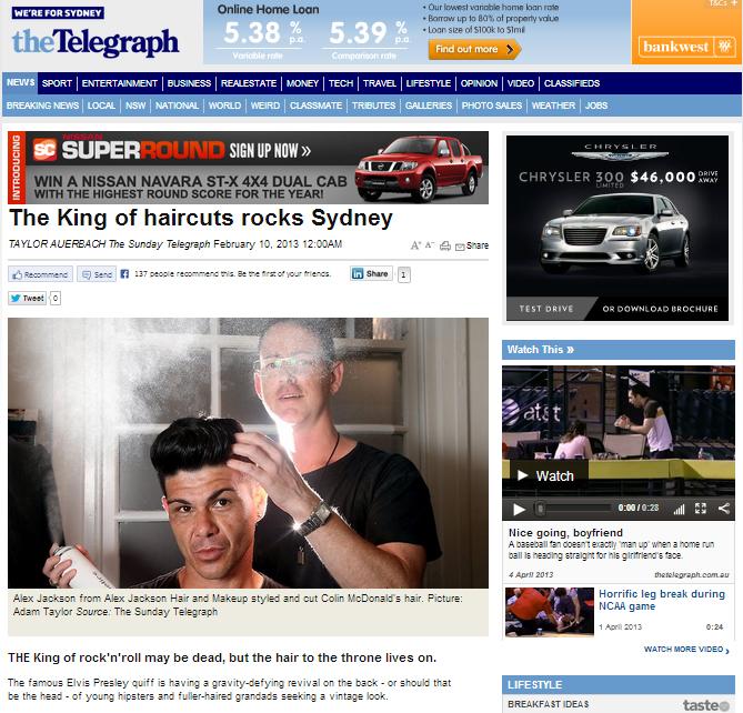 Daily Telegraph 4 February 2013
