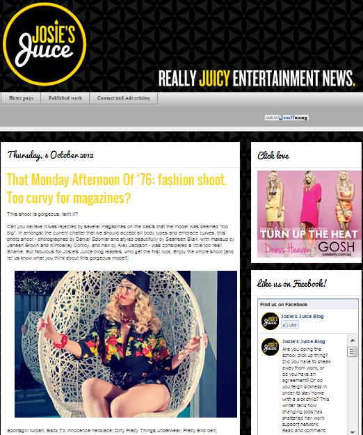 Josie's Juice 4 October 2012